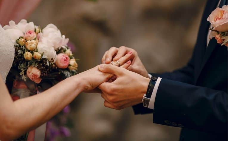 Man and woman get married