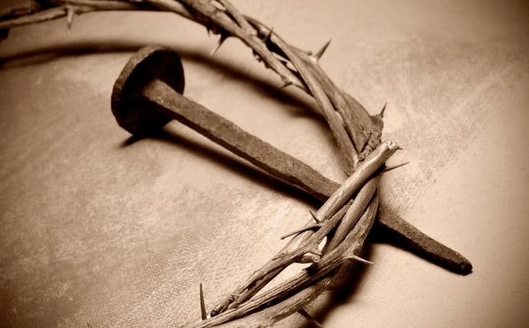Christ crown of thorns nail