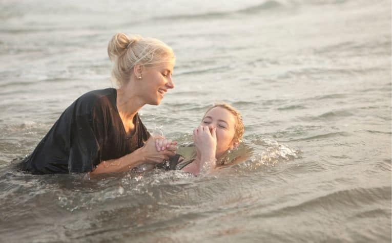 Christian baptism in water