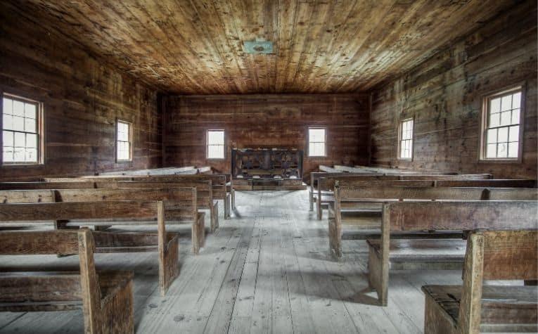 Baptist church sanctuary