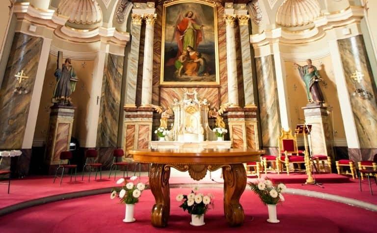 Roman Catholic altar