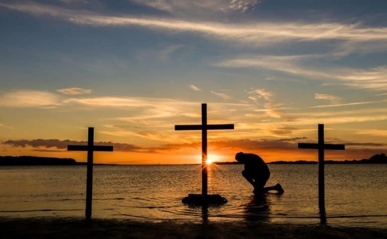 three Christian crosses representing the Trinity