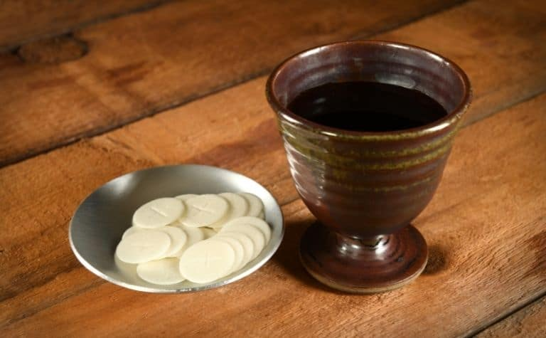 Bread and communion cup