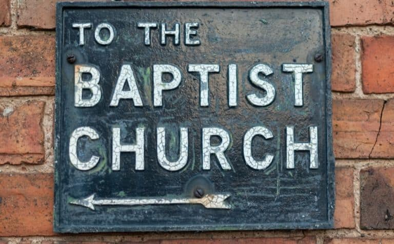 Baptist church sign
