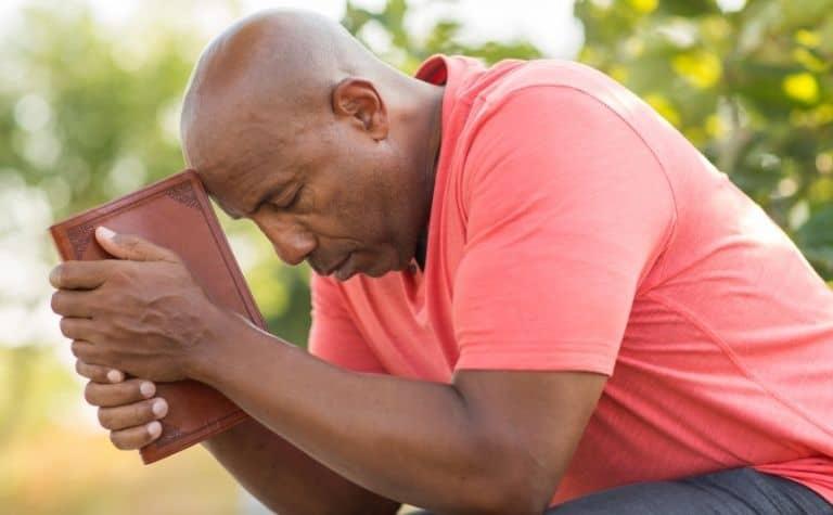 Protestant Christian praying