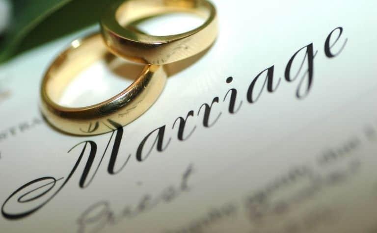 Catholic marriage certificate