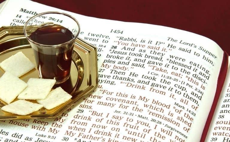 The Last Supper communion