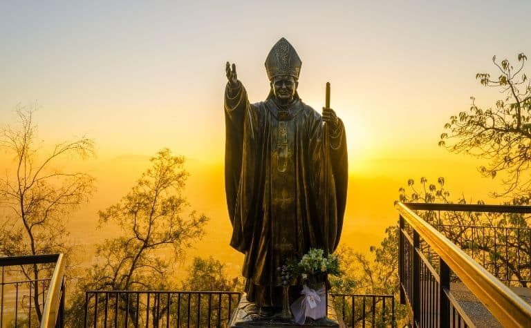 Catholic pope statue