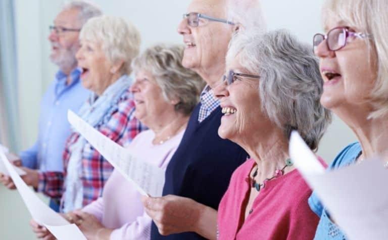 choir singing hymns